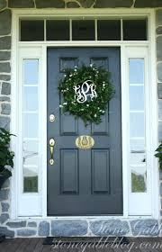 dark green front door colors tan brick house color ideas for red