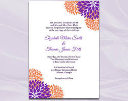 purple wedding invitation kits top collection of purple and orange wedding invitations theruntime