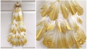 gold tipped feather tree craftideas