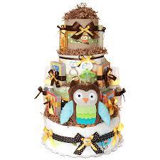 custom forest owl diaper cake 0 00 diaper cakes mall unique