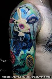 curiouser and curiouser alice in wonderland tattoos