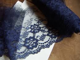 navy blue lace ribbon navy blue lace trim 8 wide 3 or 5 yds lace flower wedding bridal