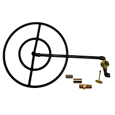 Propane Fire Pit Insert by Hpc 30 Inch Propane Gas Fire Pit Kit With Round Black Steel Ring