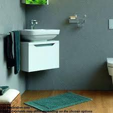 Cloakroom Basin And Vanity Unit Vigo Left Hand Corner Combination Unit With Black Basincompact