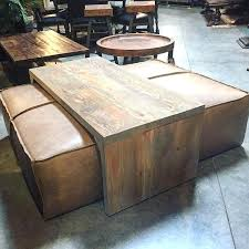 Tray Ottoman Coffee Table Ottoman With Table Yep Its A Coffee Table Leather Ottoman And Its