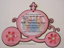Princess Themed Invitation Card Princess Carriage Invitations Jingvitations