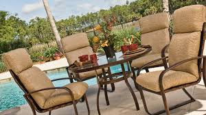 Patio Chairs With Cushions Exterior The Cozy High Back Patio Chair Cushions