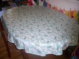 Fitted Oval Tablecloth Meg Roke Knits Oval Table Cloth Tutorial