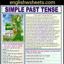 jack and the beanstalk esl reading comprehension worksheet for