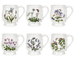 portmeirion botanic garden set of 6 tankard bristol mugs assorted
