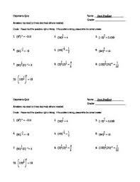 free worksheets on exponents free worksheets library download