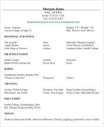 acting resume template for microsoft word acting resume template for microsoft word actors free