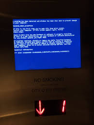 elevator death blue screen of death is always what you want to see in an elevator