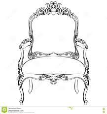 Classic Chair Royal Baroque Vector Classic Chair Furniture Stock Vector Image