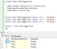 Sql Server Create Table Example Sql Server Trigger After Update For A Specific Value