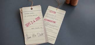 save the date luggage tags vintage luggage tag wedding save the date tiny pine press