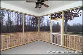 between a screen porch and deck outdoor living design