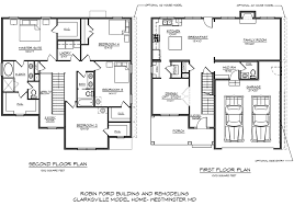 How To Draw A House Floor Plan Robin Ford Building U0026 Remodeling Sample Floor Plans In Carroll