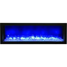 amantii fire u0026 ice series 50 inch built in electric fireplace bi