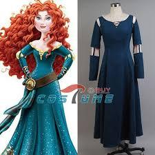 Merida Halloween Costume Quality Brave Princess Merida Uniform Girls Long Dark Green