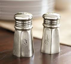 antique silver sentiment salt pepper shakers pottery barn
