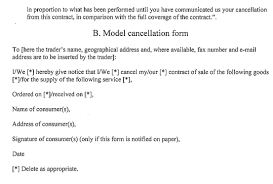l islation si e auto b the consumer contracts information cancellation and additional