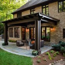 Outdoor Covered Patio Pictures Outdoor Kitchen In A Transitional Style By Synthesis Design