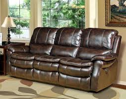 Power Recliners Sofa Power Reclining Sofa In Nutmeg Synthetic Leather By House