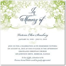 funeral service announcement wording best photos of sle memorial service invitation wording memorial