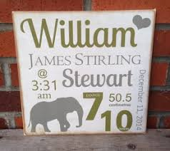 Baby Plaques Baby Birth Announcement Signs Baby Nursery Signs