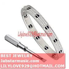 love bracelet gold plated images Fake cartier love bracelet white gold plated real paved with jpg