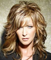 thick hair styles for middle aged women long layered haircuts with highlights layered haircuts for long