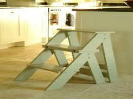 wooden three step kitchen stool folding step stool chair folding