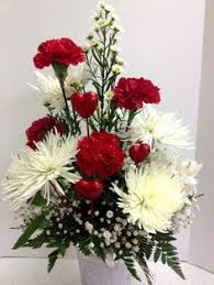 Flower Love Pics - beautiful red roses and hydrangea will definitely capture your
