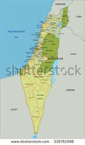 political map of israel israel political map capital jerusalem neighbors stock vector