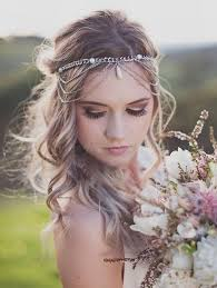 forehead bands wedding headbands boho wedding hairstyle with forehead band