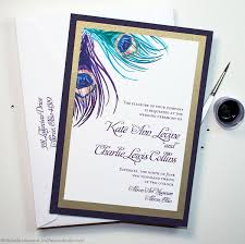 Peacock Wedding Programs Peacock Feather Wedding Invitations And Stationery Watercolor