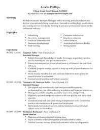 exle of manager resume restaurant manager resume exle exles of resumes