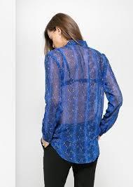 snake print blouse blue snake print sleeve collar from ideology blouses all