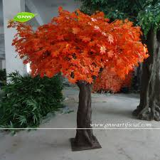 artificial tree orange maple leaves 12ft high buy artificial
