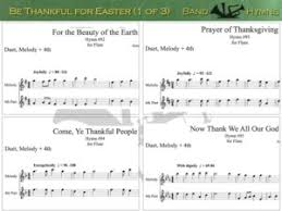 be thankful for easter hymn duet compilation for flute