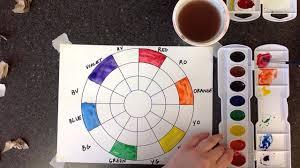 watercolor color wheel part 1 youtube