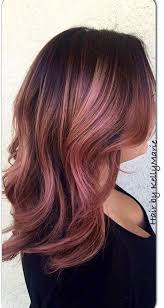rose gold lowlights on dark hair rose gold hair color with brown recherche google awesome hair