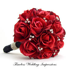 black and red wedding flowers bridal bouquet red rose i think i