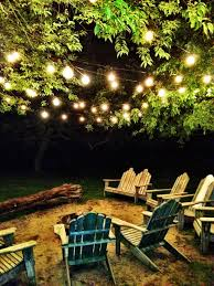 Beautiful Outdoor Space For Your Yard I Love The Hanging Lights And