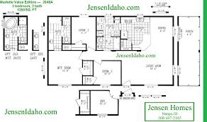 2848a cornerstone 28x48 1280sf 3br 2ba home u0026 mobile floor plans