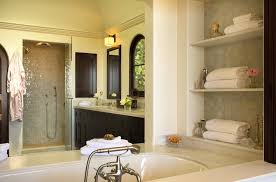 bathtub shelves mediterranean bathroom chris barrett design