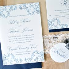 blue and white antique china wedding invitations by pretty peacock