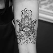 hamsa tattoo designs u0026 hand of fatima meaning