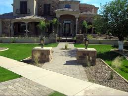 Arizona Landscaping Ideas by Fake Turf Red Rock Arizona Landscape Design Front Yard Landscape